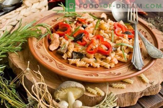 Pasta di pollo e funghi - Classici accessibili della cucina italiana