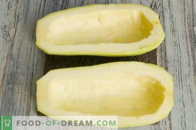 Calabacines Rellenos Con Cuajada Y Verduras
