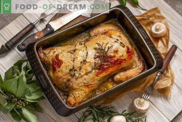 Pollo deshuesado relleno en el horno