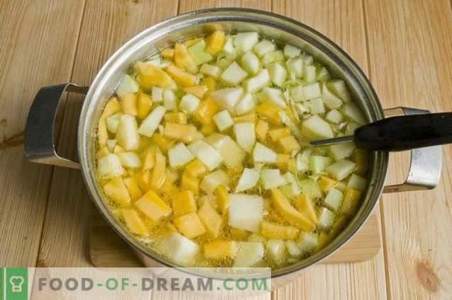 Sopa de repollo cuajada con calabaza
