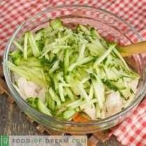 Hühnersalat mit Avocado und Gurke