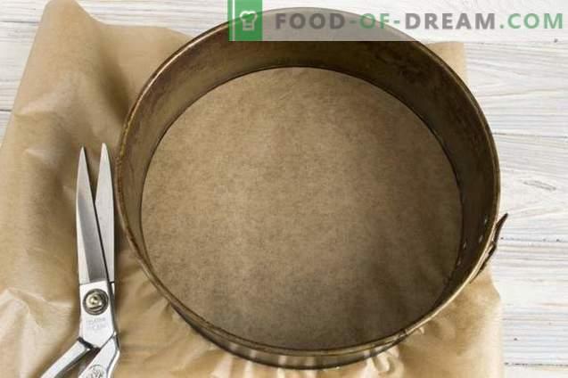 Pastel casero de crema agria de cebra