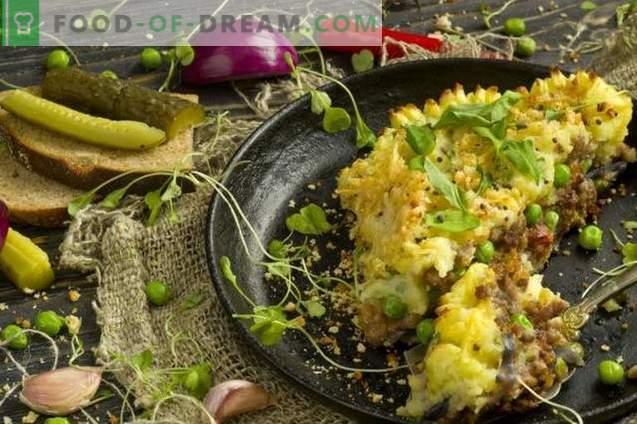 Pastel de papas con carne picada y verduras