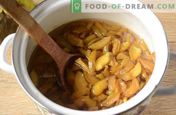 Rebanadas de mermelada de membrillo - ¡milagro ámbar! Cómo hacer mermelada de membrillo: foto-receta paso a paso del autor
