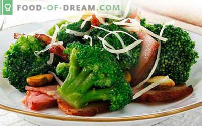 Ensalada de brócoli - cinco mejores recetas. Cómo cocinar correctamente y sabrosa ensalada de brócoli.
