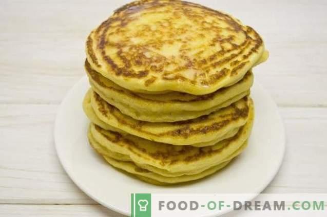 Tortitas de maíz - tortitas en kéfir con harina de maíz