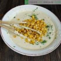 con maíz y cebolla - comida rápida casera real