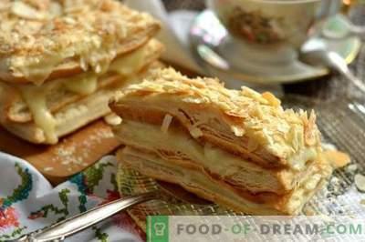 Napoleon pastry with custard