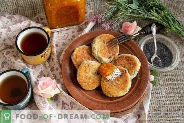 Cheesecakes with poppy seeds and raisins - the taste of childhood