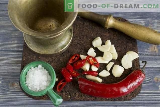 Pollo al horno con sal