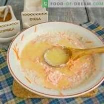 Pasteles de queso con zanahorias, pasas y canela