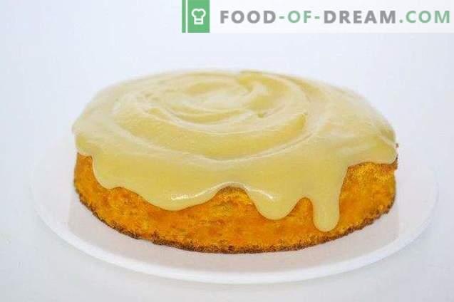Bizcocho de zanahoria con crema de naranja