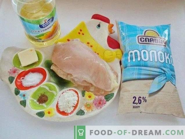 Pollo con salsa bechamel