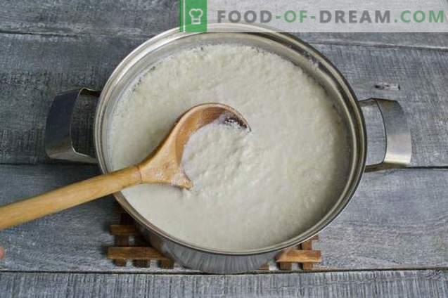 Queso casero de kéfir y leche