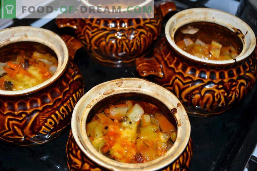 Asado en ollas: papas con champiñones y salchicha ahumada, deliciosa receta para los huéspedes