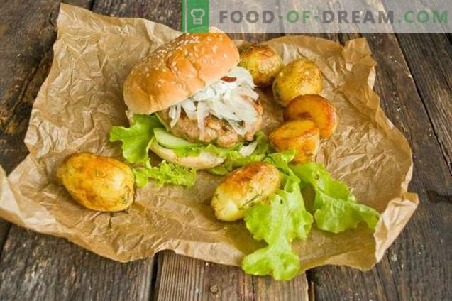 Hamburguesas caseras con patatas fritas