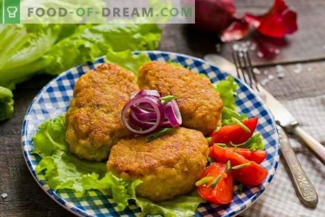 Albóndigas de pollo picadas con cebolla
