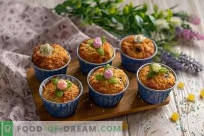 Eenvoudige muffins met peren en noten