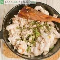 Fricasé de pollo con guisantes - guiso de verduras en francés