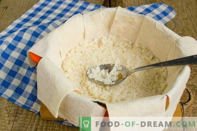 Shakh-pilaf en pan de pita: consumo para las vacaciones
