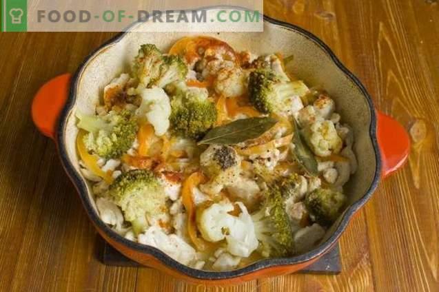Guiso de brócoli con pollo