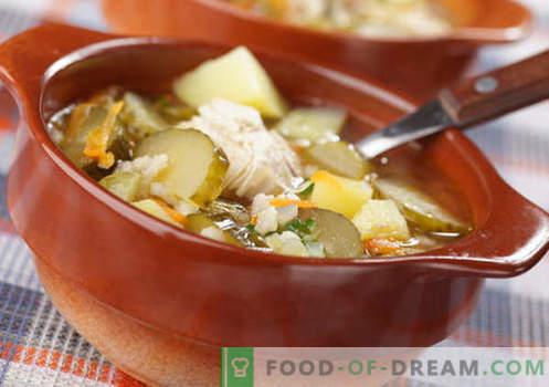 Salmuera casera - las mejores recetas. Cómo cocinar correctamente y sabroso rassolnik casa.