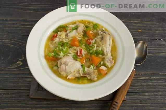 Sopa de alitas de pollo