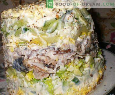 Ensalada de pescado hervido - recetas para los días de semana y festivos