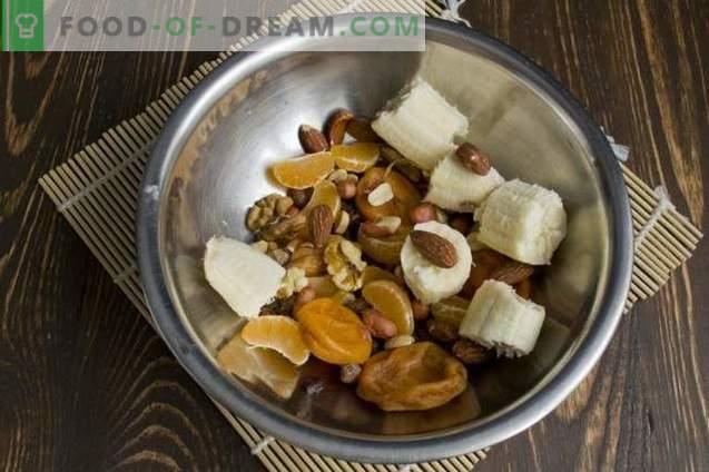 Tarta de frutas y frutos vegetarianos