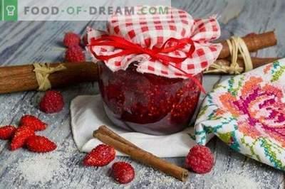 Mermelada de fresa con frambuesas y canela