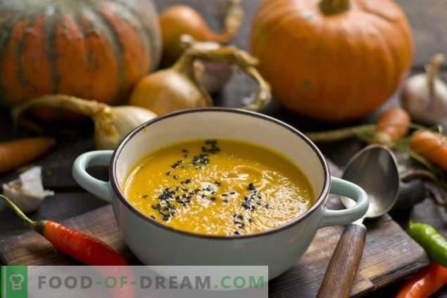 Sopa de calabaza con zanahorias y jengibre
