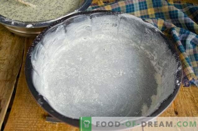 Mannik con amapola en kéfir - pastel simple y sabroso