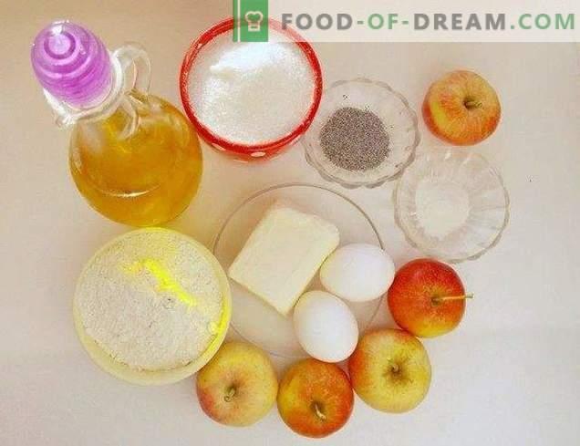 Pastel de semilla de amapola de manzana