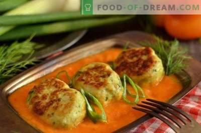 Albóndigas en el horno con una salsa de verduras