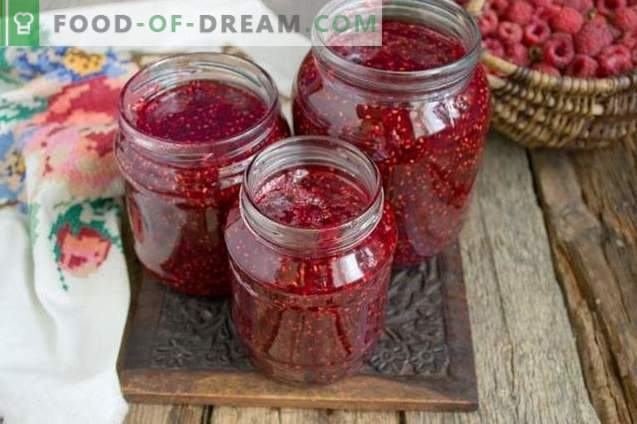 Mermelada de frambuesa para el invierno en 10 minutos
