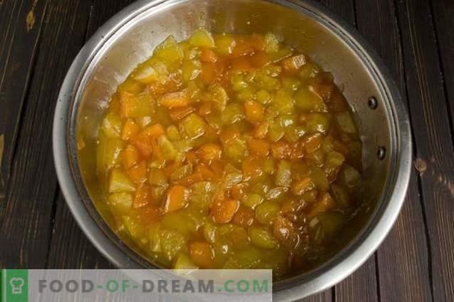Mermelada de calabaza con physalis, manzanas y naranja