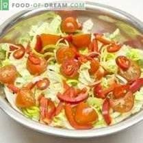 Ensalada de verduras con aderezo de limón y cebolla