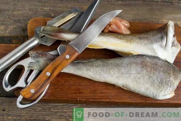Deliciosa navaga en el horno - pescado bajo la marinada