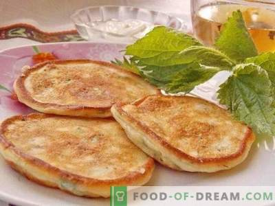 Fritters with young nettles