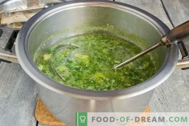 Sopas de espinacas verdes
