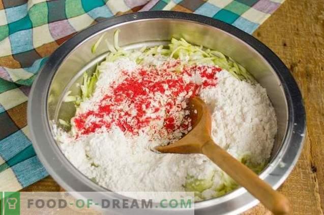 Kotlety z cukinii z dodatkowym daniem na szybką kolację