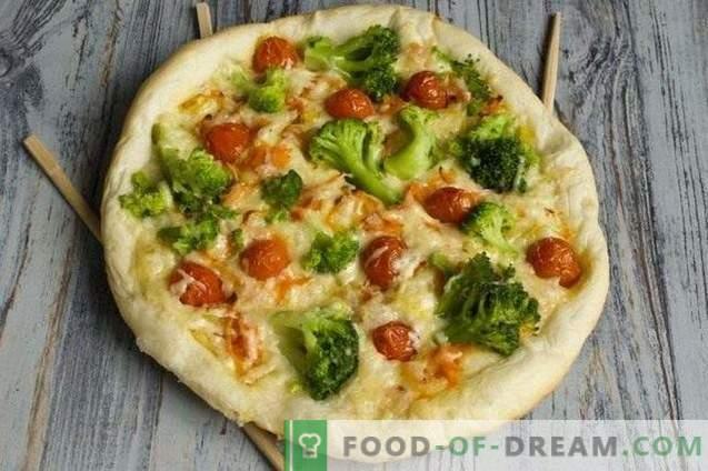Pizza magra con brócoli y tofu