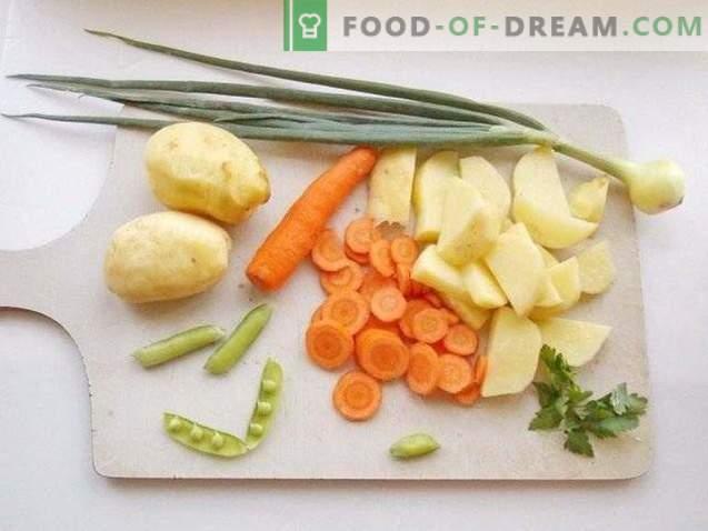 Estofado de verano de verduras jóvenes