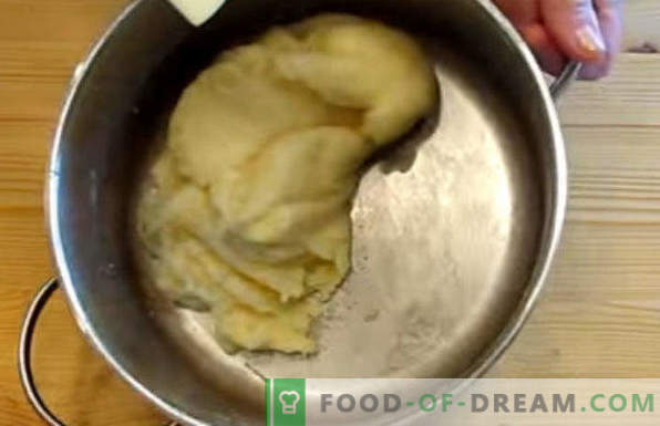 Pasta choux para eclairs, recetas de leche, margarina, aceite vegetal