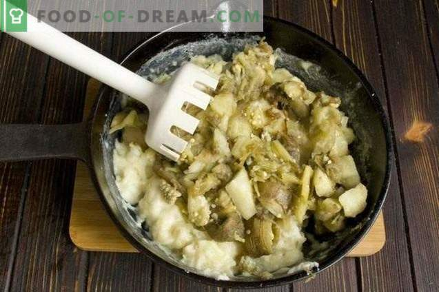 Puré de patatas con berenjena
