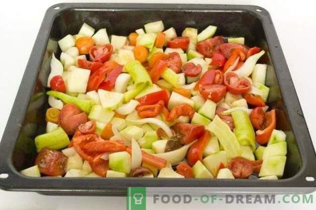 Caviar de calabaza de verduras al horno