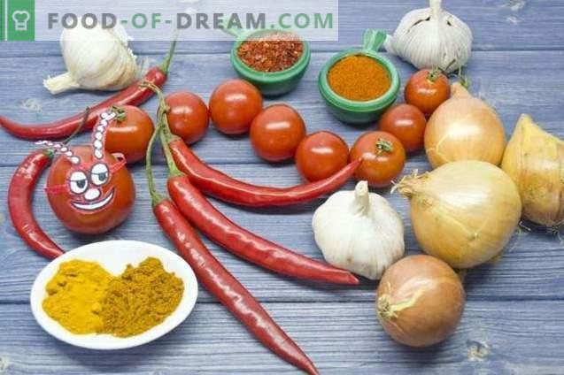Salsa picante de chile y cereza