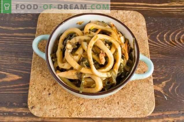 Calamares Coreanos - Ensalada De Mariscos Deliciosos