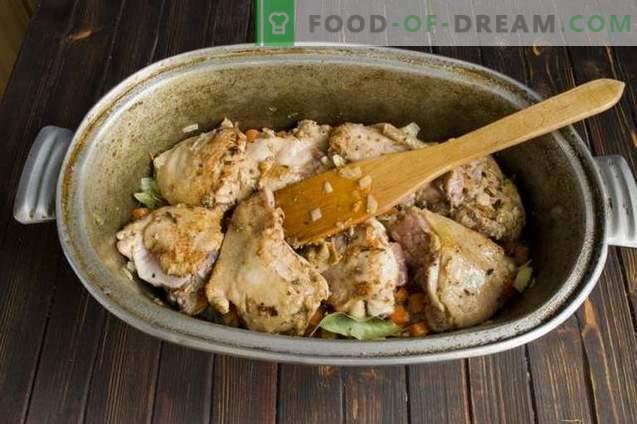 Pilaf con pollo y garbanzos