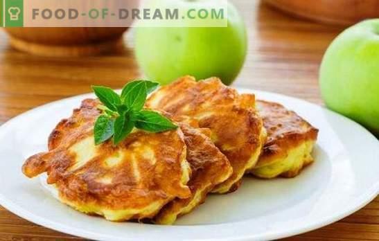 Buñuelos con manzanas en la leche: ¡nutritivos, sabrosos, aromáticos! Recetas para diferentes panqueques con manzanas en leche